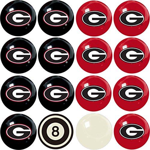 Georgia Bulldogs Pool (Imperial Officially Licensed NCAA Merchandise: Home vs. Away Billiard/Pool Balls, Complete 16 Ball Set, Georgia Bulldogs)