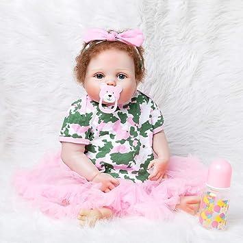 Liyukee - Muñeca Realista con Forma de Bebé Recién Nacido 55 ...