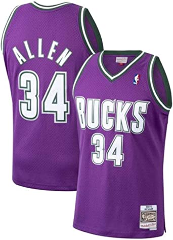 Ray Allen Milwaukee Bucks Men's Purple 2000-01 Road Hardwood Classics Swingman Jersey