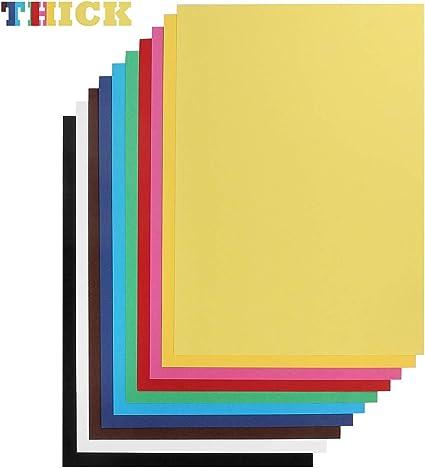 Tarjetas de papel de cartón A4 de color brillante, 100 hojas, 230 ...