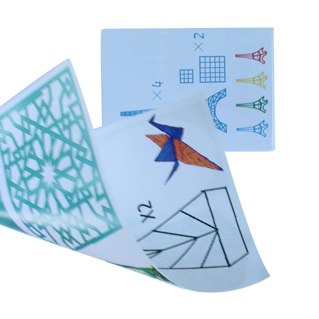 Sanzhileg A4 Taille Enfants Dessin 3D Copie Plaque de Papier Moule pour limpression 3D Stylo Dessin pochoirs et Doodle XP Cadeau pour Les Enfants
