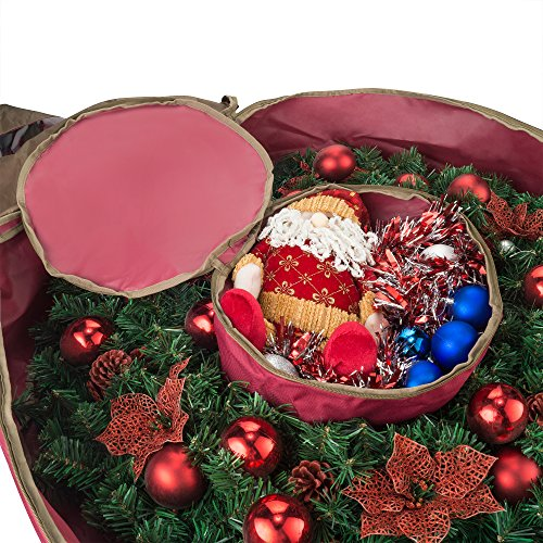 Elf Stor 83-DT5167 1556 Ultimate Red Holiday Christmas Storage Bag for 48'' Inch Wreaths by Elf Stor (Image #2)