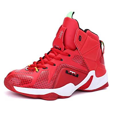 LZ Mens Womens Basketball Shoes PU Rubber Breathable Outdoor High-top Lace  Up Sneaker Shoes 7629e8f05f
