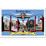 Amazon greetings from texas vintage reprint postcard set of 20 cafepress texas greetings postcards package of 8 6x4 m4hsunfo