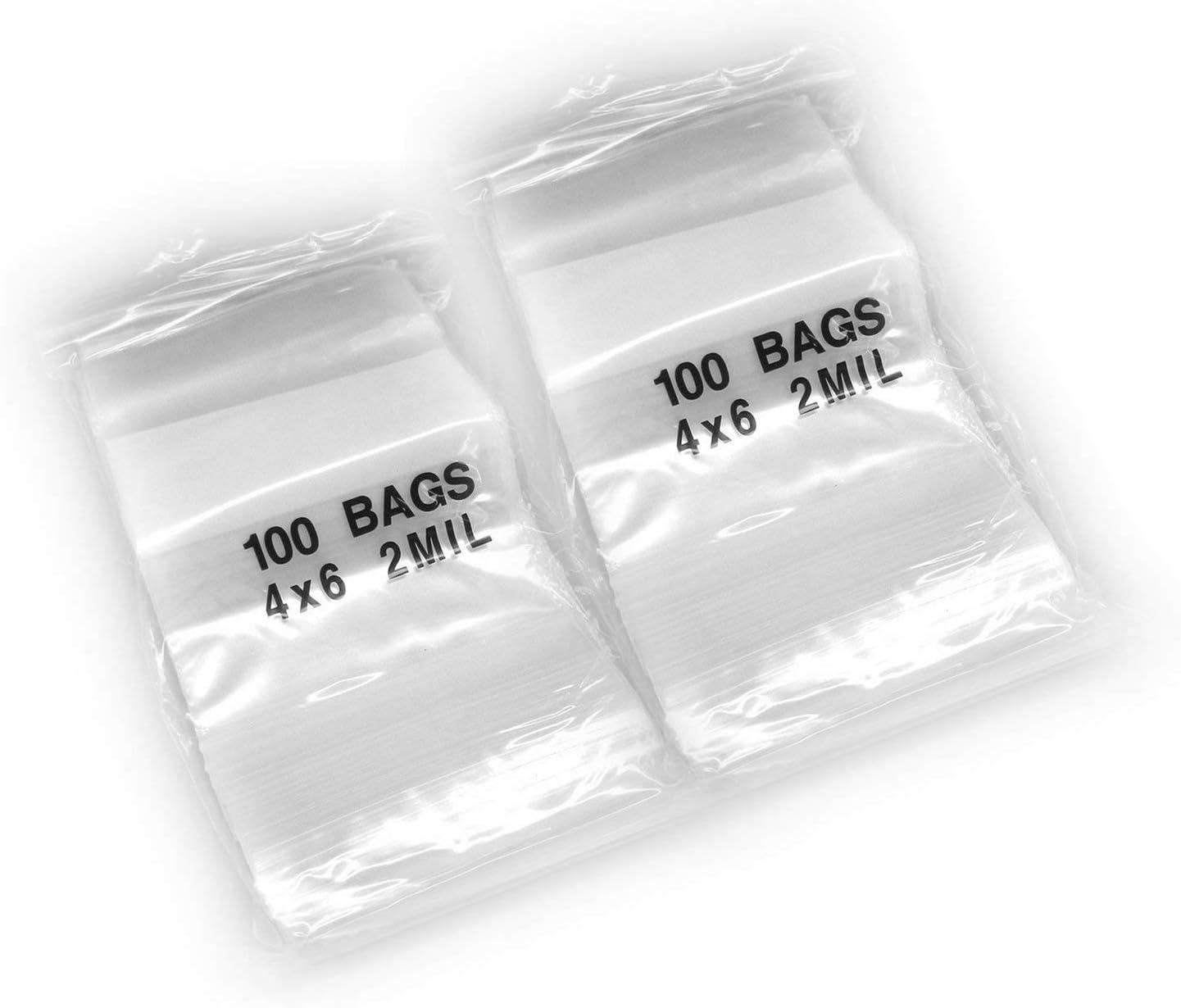 "Top Quality 200 15/""X18/"" Clear 2MIL Reclosable Zip Lock Bags Storage Ziplock Bag"
