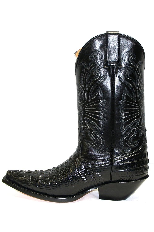 Grinders Carolina Mens Croc Black Real Leather Crocodile Tail Boot Cowboy  Western Boots (Gents UK 6 / EU 40): Amazon.co.uk: Shoes & Bags
