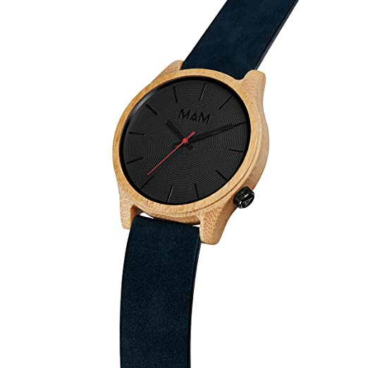 Amazon.com: MAM Originals · Quail Blue | Mens Watch | Minimalist and Elegant Design | Watch Made from sustainably sourced Bamboo | Superior Quality at an ...
