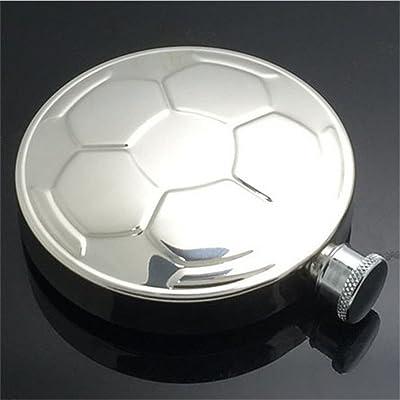 127,6gram de football en acier inoxydable Flasque 135ml Tarte à polir lignes extérieur pliables Pot de vin