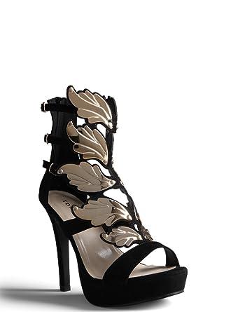 d6e0bdbff388 Amazon.com  Torrid Wing Cage Heels (Wide Width)  Clothing
