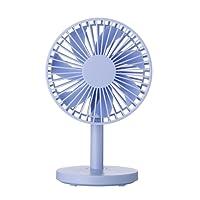 SuperSU Tischventilator Ventilator mit Standfuß 3 Geschwindigkeitsstufen Ein/Aus-Schalter Tisch Ventilator Leises Betriebsgeräusch Ca. 25° neigbar (einstellbarer Winkel) | Hoher (Blau)