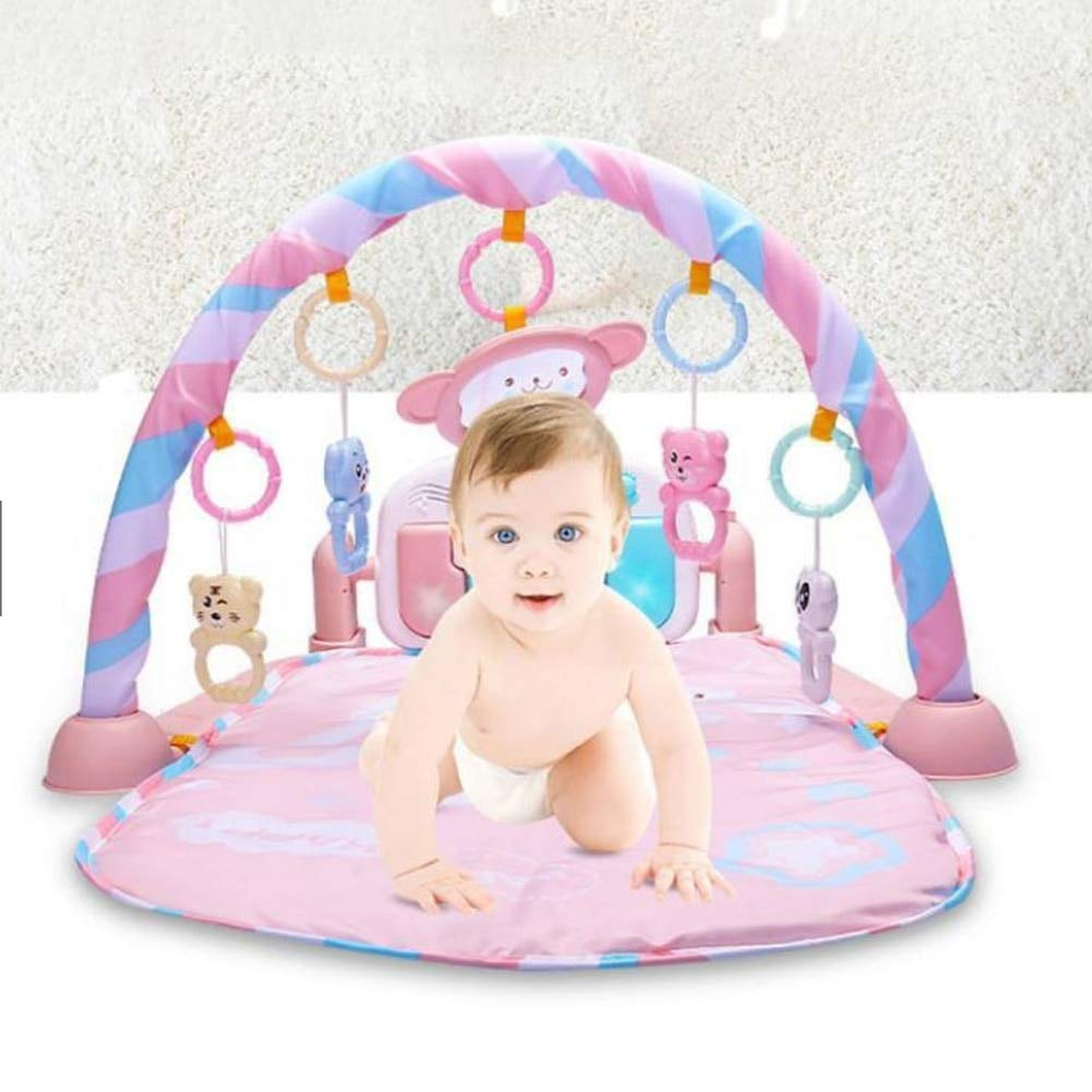 Safe Baby Gym Piano Fitness Mat Music Play Educational Gym Interactive Baby Toy Newborn Boys and Girls
