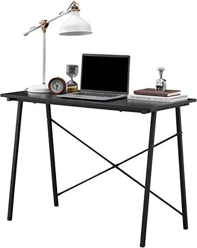 Symylife Modern Computer Desk Vintange Sturdy Office Desk Table PC Laptop Notebook Writing Study Table