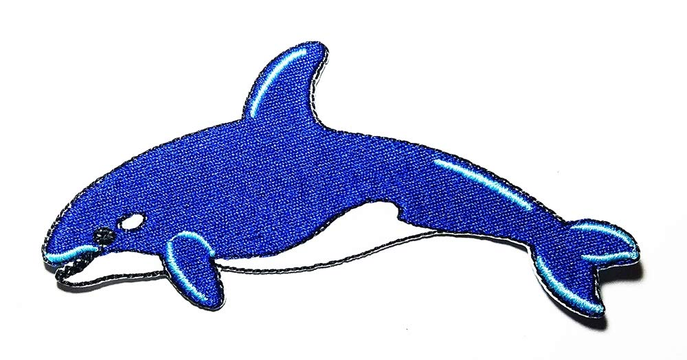 The Largest Animal in The World Blue Whale Logo Patch Embroidered Sew Iron On Patches Badge Bags Hat Jeans Shoes T-Shirt Applique