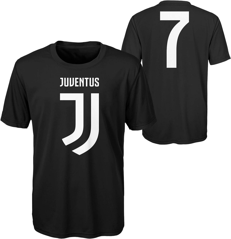 Juventus F.C. Cristiano Ronaldo #7 - Camiseta Juvenil, Color Negro - Negro - Medium: Amazon.es: Ropa y accesorios