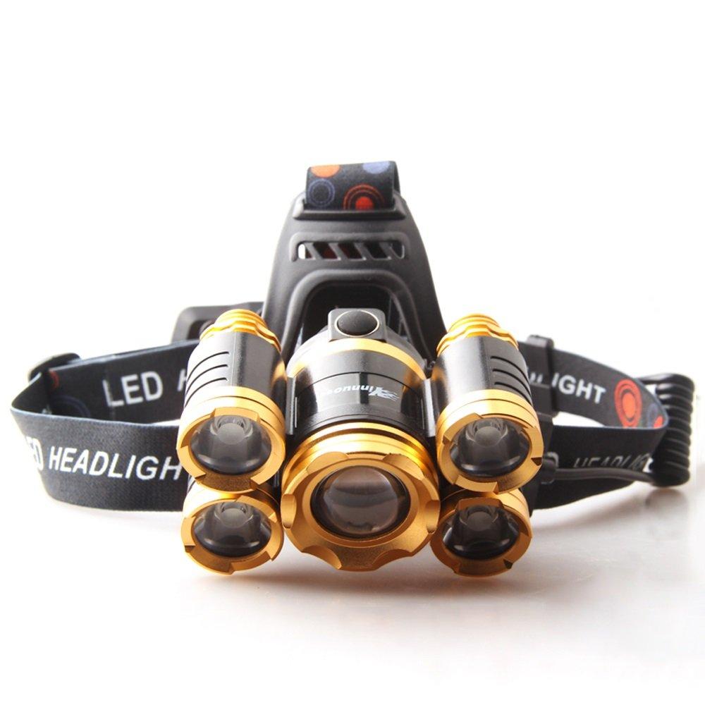 LED-Induktions-Scheinwerfer im Freien, die kampierend reiten gehen, fischend Reichweite weit Kopf-angebrachte Taschenlampe 9000W Licht justierbares USB-intelligentes schnelles Laden Huang Guang, Blu-r