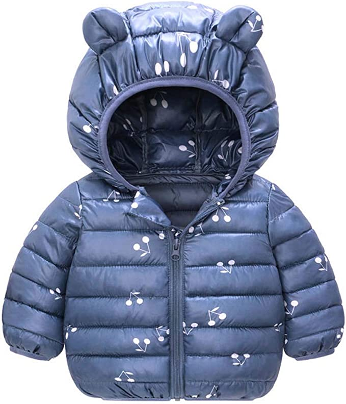 Blu 3-4 anni Bambino Inverno Giacche Cappotto con Cappuccio Ragazzi Ragazze Leggero Giubbotti Caldi Outfits