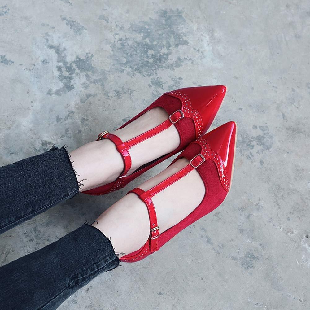 HLG Frauen spitzen zehen high heels t-spitze t-spitze t-spitze lackleder partei sandalen schnalle kleid gericht schuhe hochzeit anlass schuhe  721cb1