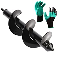 Deals on Blika Auger Drill Bit with Garden Genie Gloves