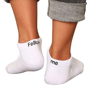 Fascigirl Calcetines Cortos Divertidos, Calcetines Tobilleros Unisex Calcetines con Letras Impresas Calcetines Deportivos con Calcetines de AlgodóN: ...