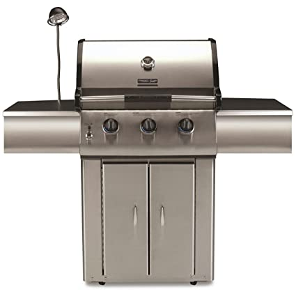 Amazon.com: Acero inoxidable Tres quemador barbacoa – Gas ...