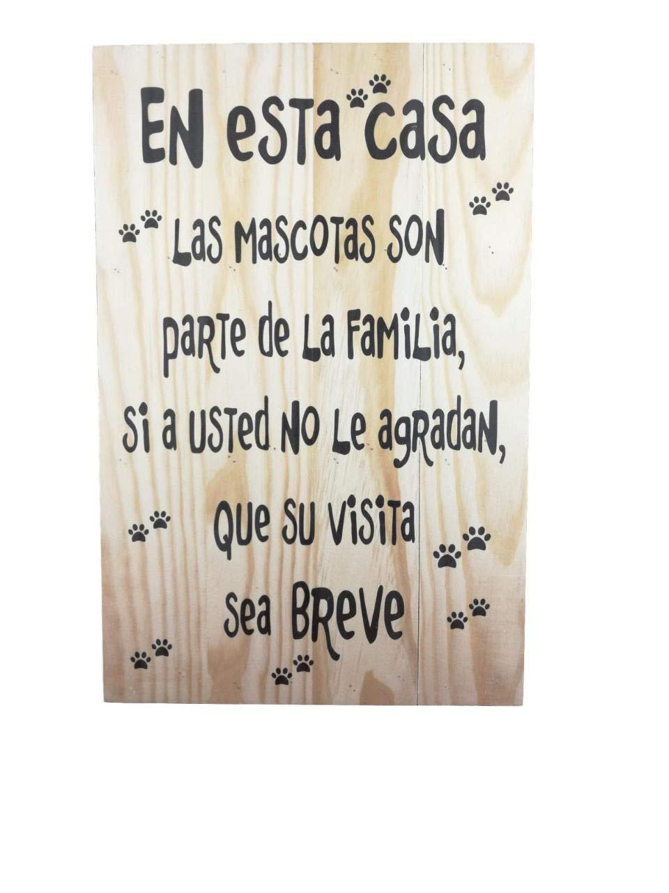 MISORPRESA Lamina Madera Tabla Frase En Esta casa Las ...