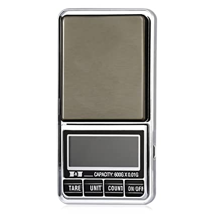 SODIAL 600g 0.01 Bascula de joyas de bolsillo electronica digital 10 miligramos micro-gm con