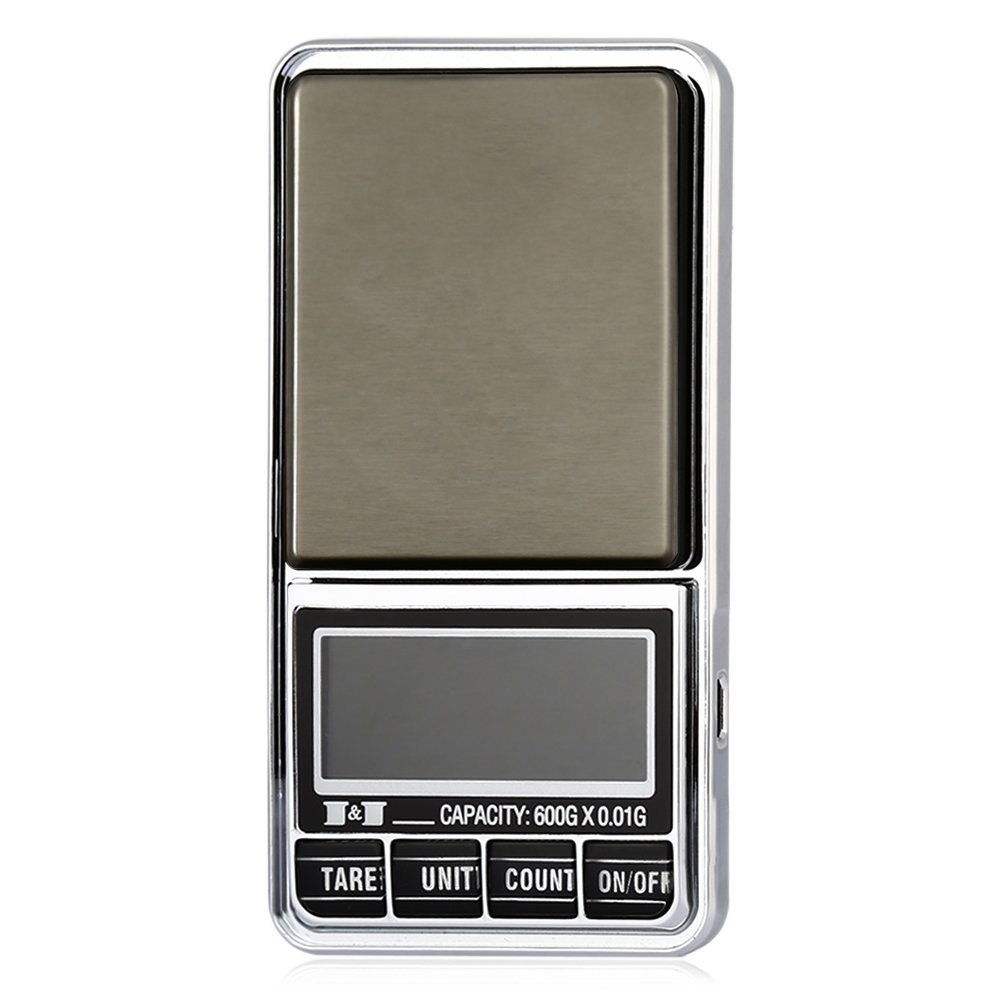 TOOGOO 600g 0.01 DIGITAL ELECTRONIC POCKET JEWELLERY SCALES 10 milligram Micro-gm With Micro-charging interface