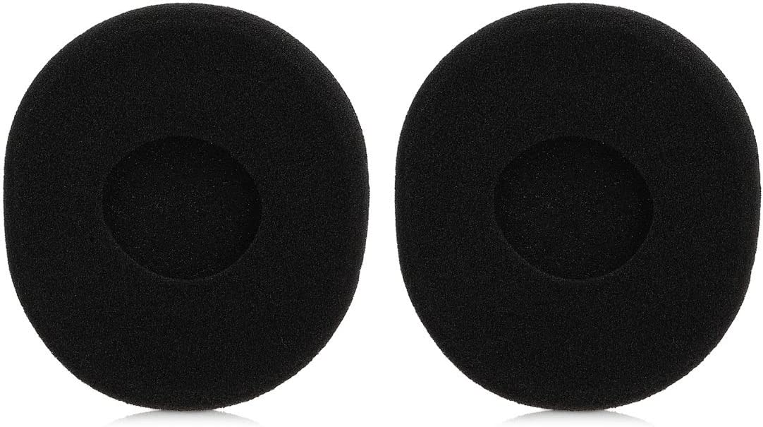 Black kwmobile 2X Earpad for Logitech H800 Replacement Foam Earpad Cushions Padding for Headphones