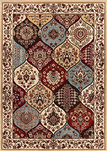 - Well Woven Barclay Wentworth Panel Ivory Traditional Area Rug 7'10