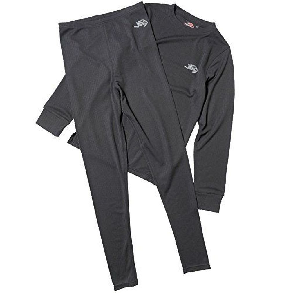 Kangaroo Poo Junior Baselayer Pant & Top Set Black 11-12 Year Old Brand New