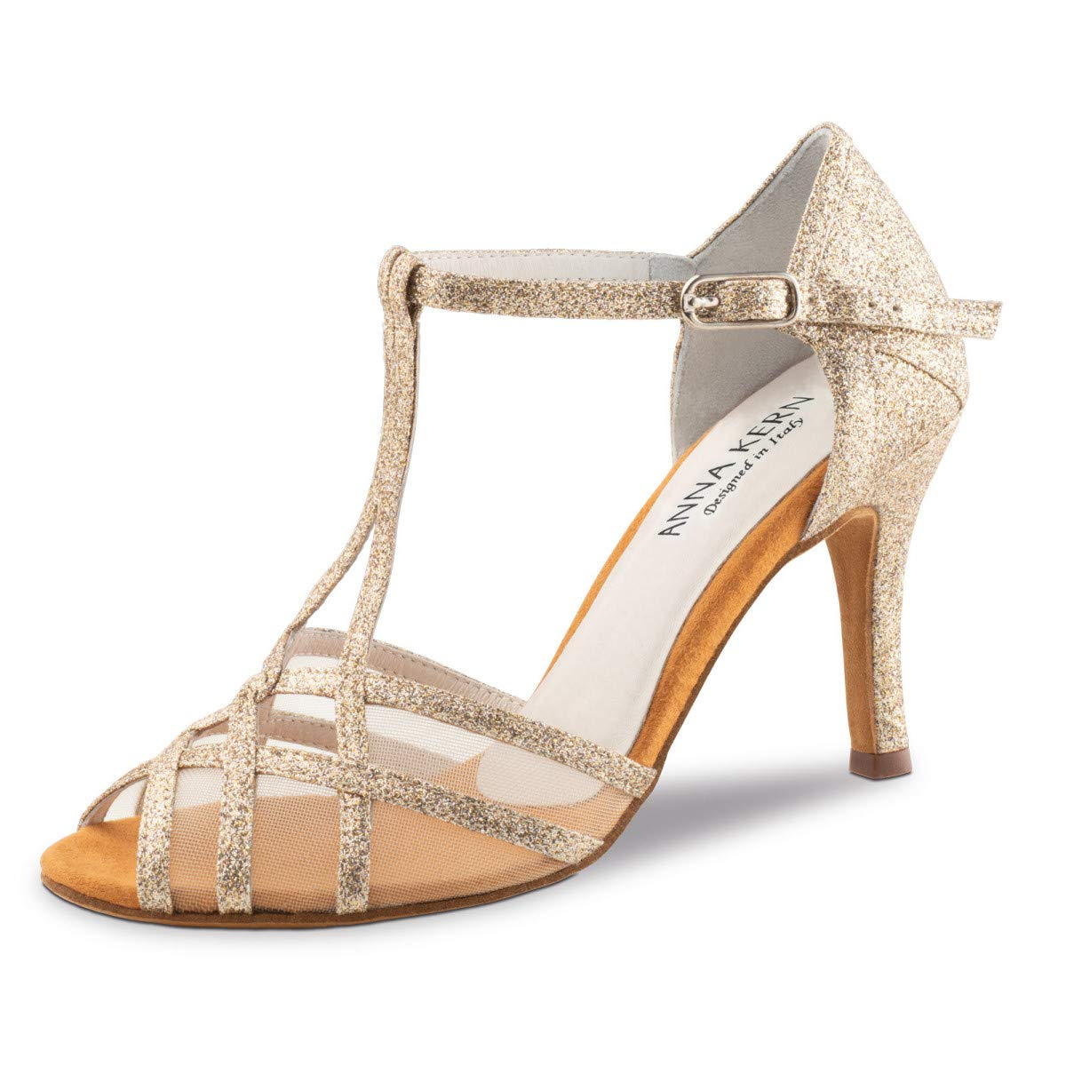 Anna Kern - Damen Tanzschuhe 870-75 - Brokat Gold 7 Glitzer - 7 Gold 5 cm Stiletto e39532