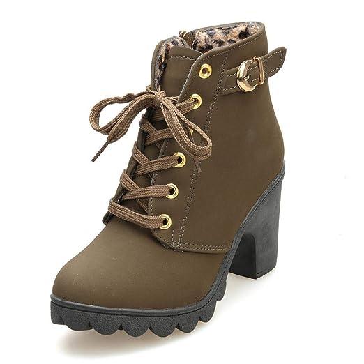 Amazon.com  Boomboom High Heel Ankle Short Boots Women  Clothing 138379fe8b05