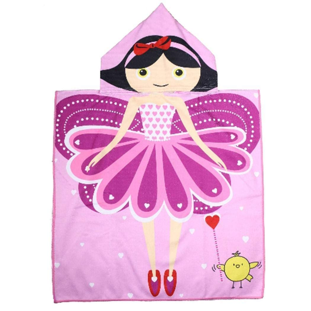 Caiuet Children's Cartoon Printing Hooded Cloak Beach Towel Ultrafine Fiber Towel Kids' Bath Towels (15)