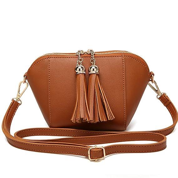 Amazon.com: LXYFMS Korean Fashion Tassel Small Square Bag Casual Wild Ladies Handbag (Color : White): Home & Kitchen
