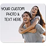Mouse Pad Custom Personalized Photo Picture & Text Neoprene Office Supplies & Gaming Computer Desk Accessories Square…