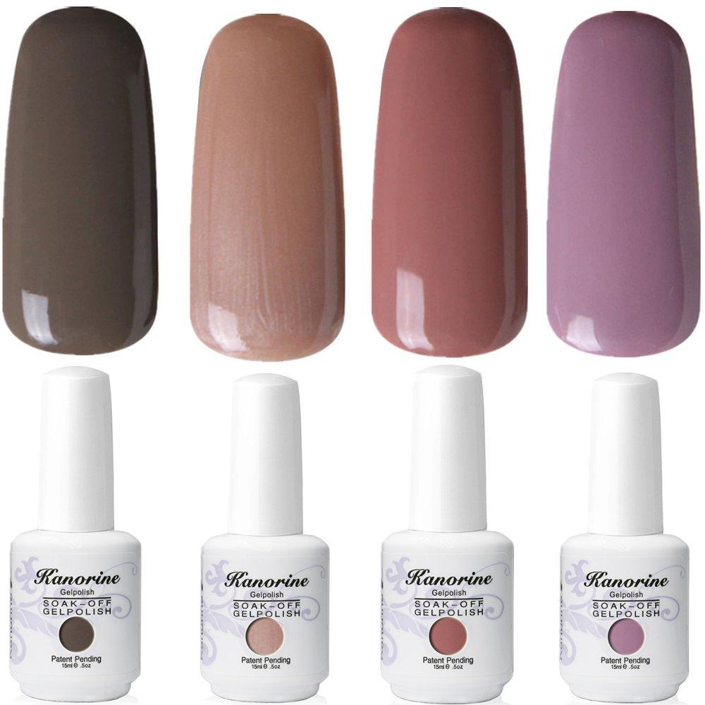 Kanorine 2 pcs x 15ml Base No Wipe Clean Top Coat Nail Gelpolish Soak-Off Gel Polish UV LED Gel Nail Polish Lacquer art Nail Salon (Top+Base Coat)
