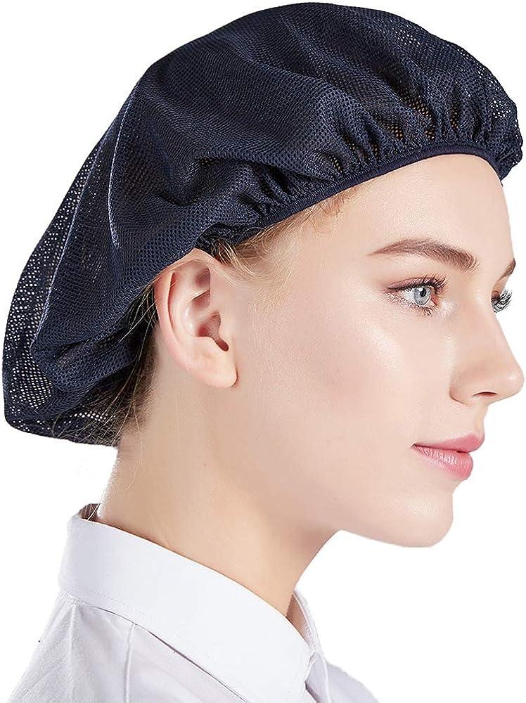 Nanxson 5pcs Unisex Elastic Chef Hat Kitchen Cooking Chef Cap Mesh Food Service Hair Nets CF9023