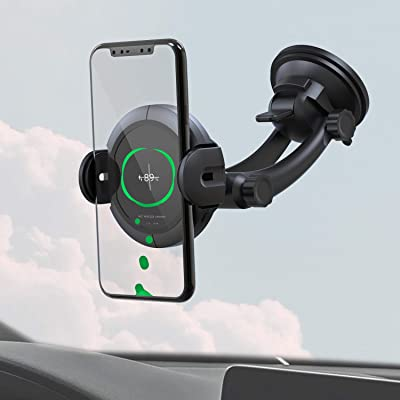 KOAKUMA Wireless Car Charger Mount, Automatic Clamping Car Mount Air Vent Phone Holder with QI Fast Charging Compatible with iPhone X/XS Max/XS/XR/8/8 Plus, Samsung Galaxy S10/S10+/S9/S9+/Note 9/8