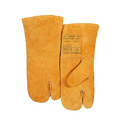 Amazon.com: Index Finger Welding Gloves, Cow Two Layers, Argon Arc ...