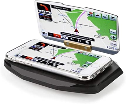 HOMECCLL Universal teléfono móvil Soporte de navegación Montaje Coche GPS HUD Cabeza Arriba Soporte de Pantalla de proyección Titular: Amazon.es: Deportes y aire libre