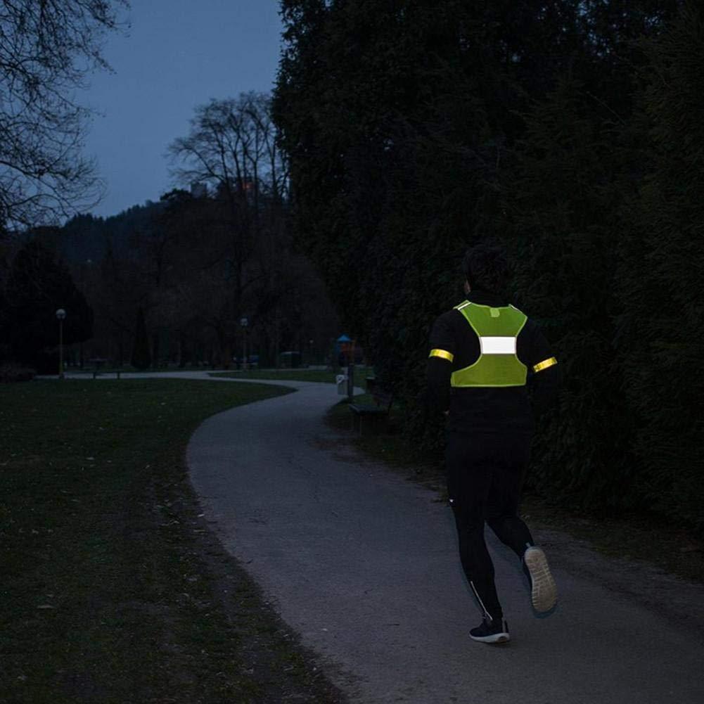 Outdoor Nachtreiten Laufen Reflektierende Weste Sportweste luisbreath Warnweste Sicherheitsweste F/ür Laufen Joggen