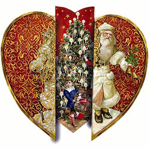 Weihnachtsherz Nikolaus: Zum Aufstellen / mit Kuvert