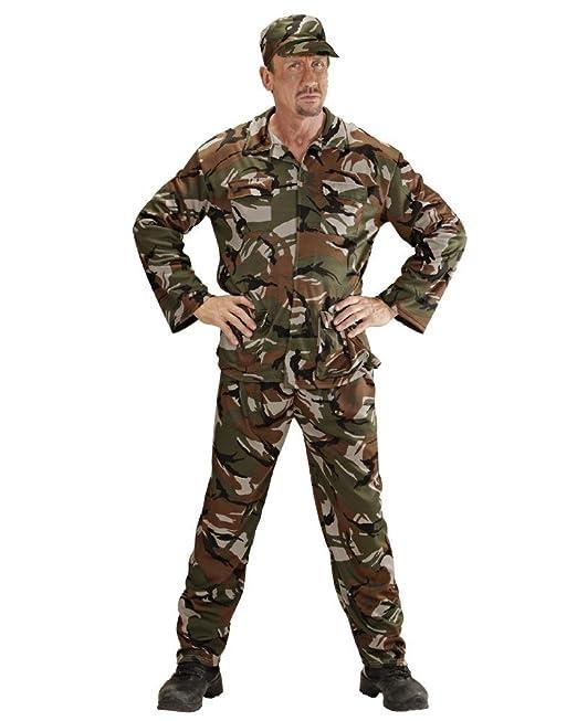 Vari Costume Carnevale Uomo Travestimento Mimetica Militare PS 26302   Amazon.it  Abbigliamento 036b6f0c4869
