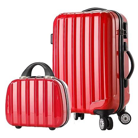 YULAN Rojo 28 Pulgadas Equipaje Trolley Tronco Maleta Traje ...