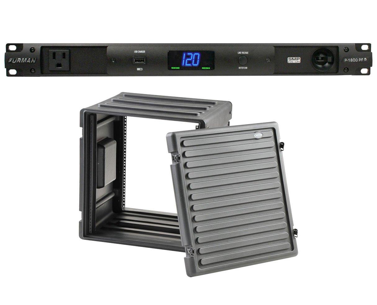 Furman P-1800 PF R 15 Amp Power Conditioner + SKB 1SKB-R12U Roto Molded 12U Rack