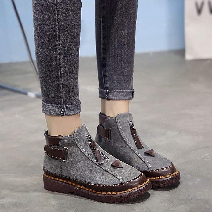 Botas de Plataforma,BBestseller Calzado de protección para Mujer Botas de Mujer Estudiante Botines Sport Boots: Amazon.es: Zapatos y complementos
