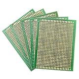 5Pcs PCB DIY Soldering Copper Prototype Printed Circuit Board 70mm x 90mm