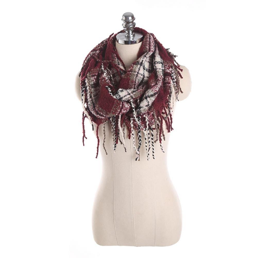 SALY Bufanda caliente de la rejilla de la manera de las señoras , 80*30cm