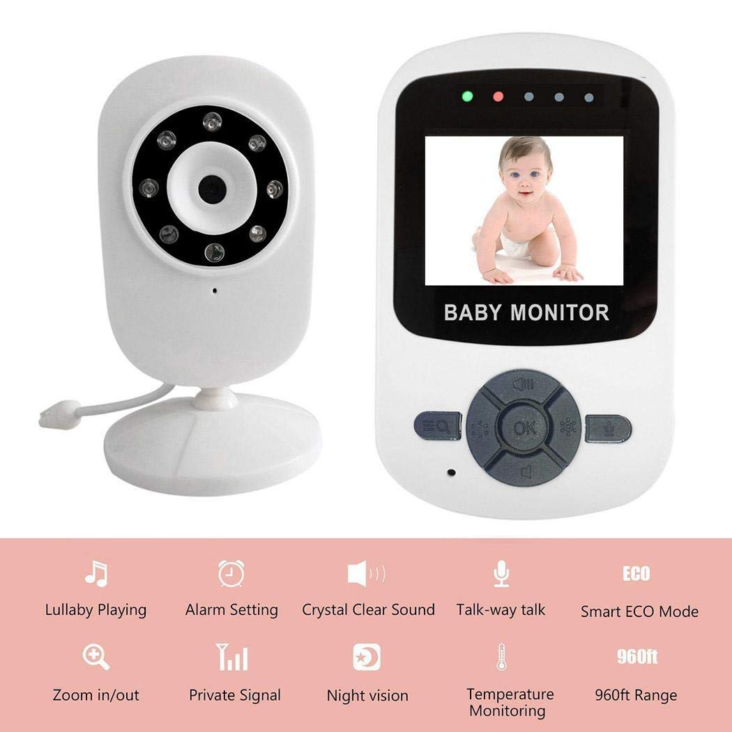 Video Baby Monitor with Digital Camera,Home Security Camera, Motion Tracking, Super IR Night Vision, Two-Way Audio, Motion & Sound Detection (#2) by sunnmall