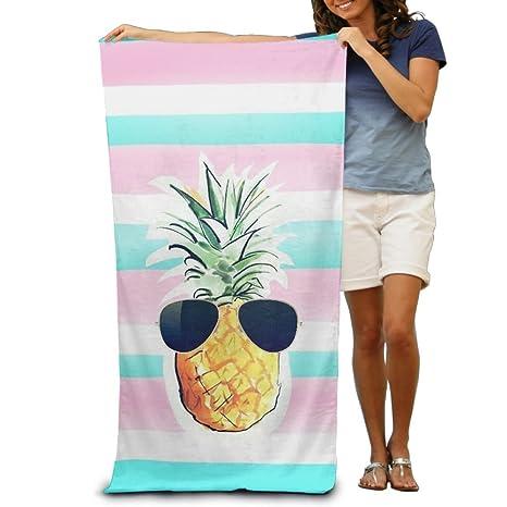 Piña con gafas de sol playa toallas de baño Piscina con capucha extra grande manta para